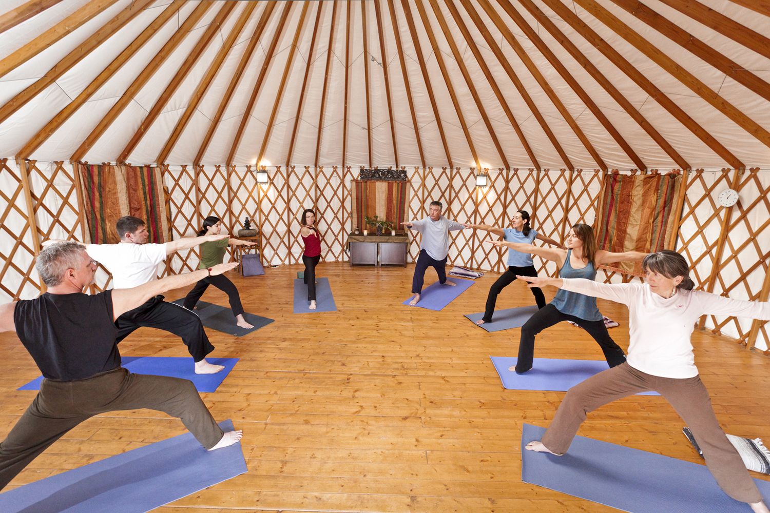 Yoga classes are offered seven days a week for guests practicing at all levels.