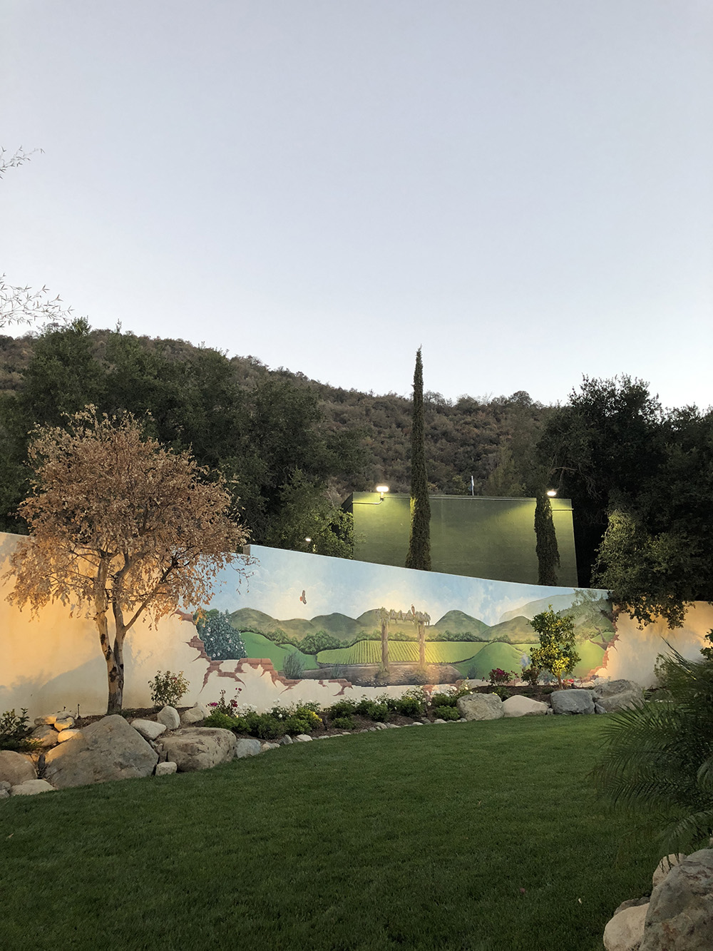 The spa's Secret Garden offers guests a peaceful and relaxing area to lounge.