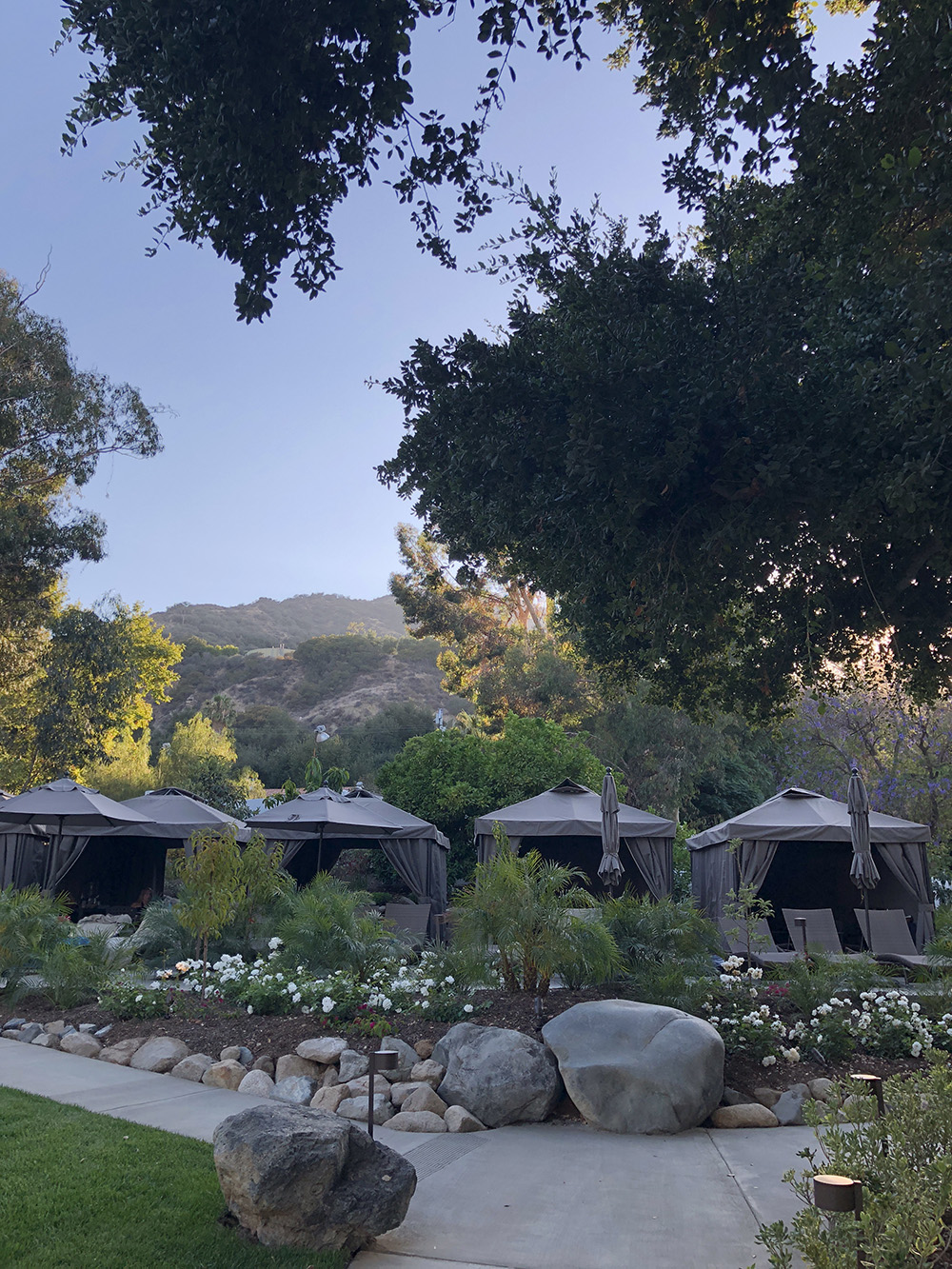 Luxurious cabanas in the Secret Garden are also available for daily rental.