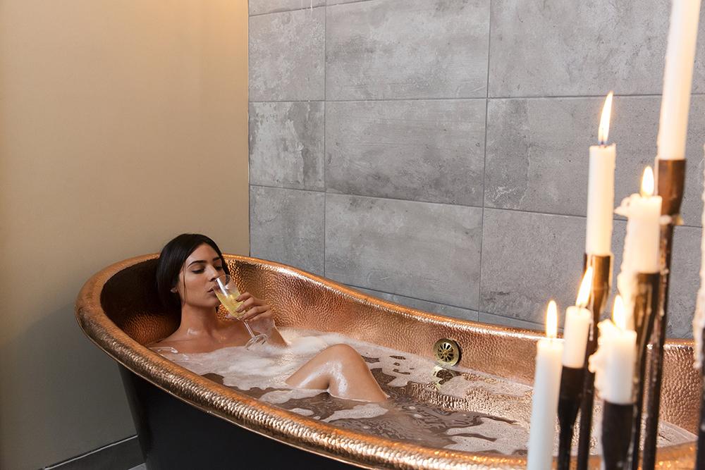 The copper tub soak at Desuar Spa will make you feel like a goddess.