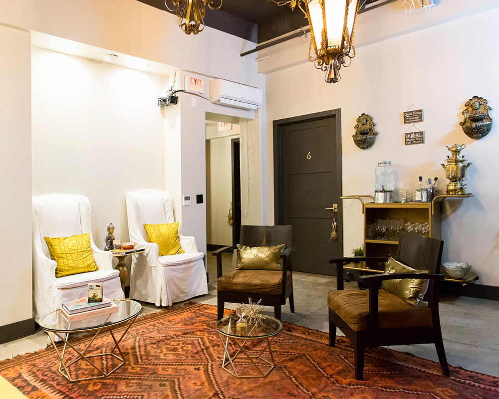 The relaxation room at Desuar Spa in Downtown Los Angeles.
