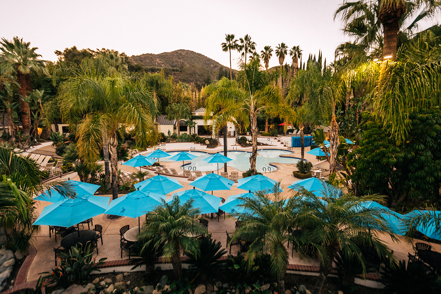 The resort is home to 19 different pools and mineral baths.