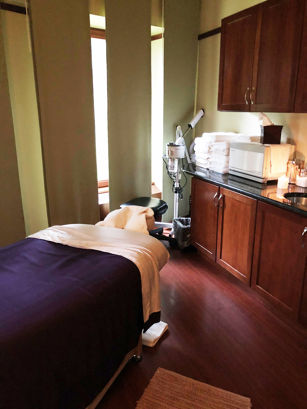 The spa also offers a variety of facials and body treatments.