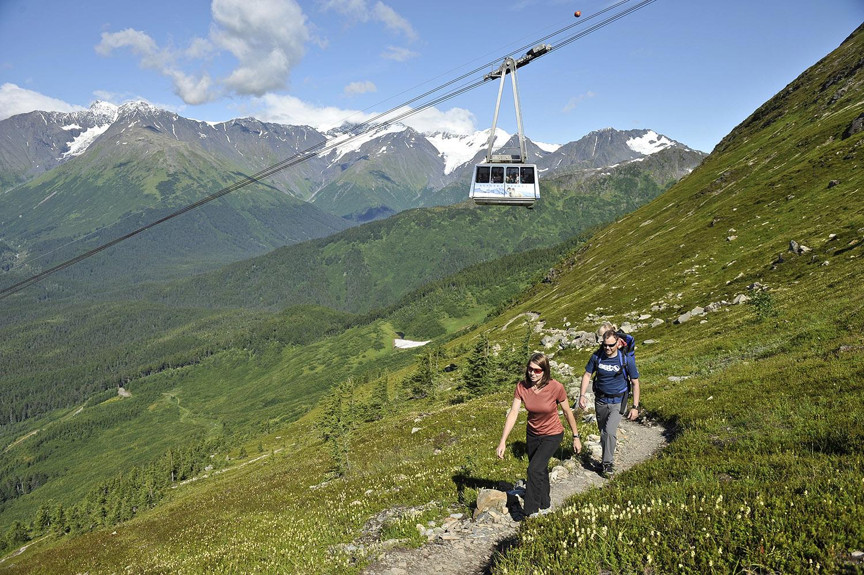 Hiking is a popular activity at Alyeska Resort.