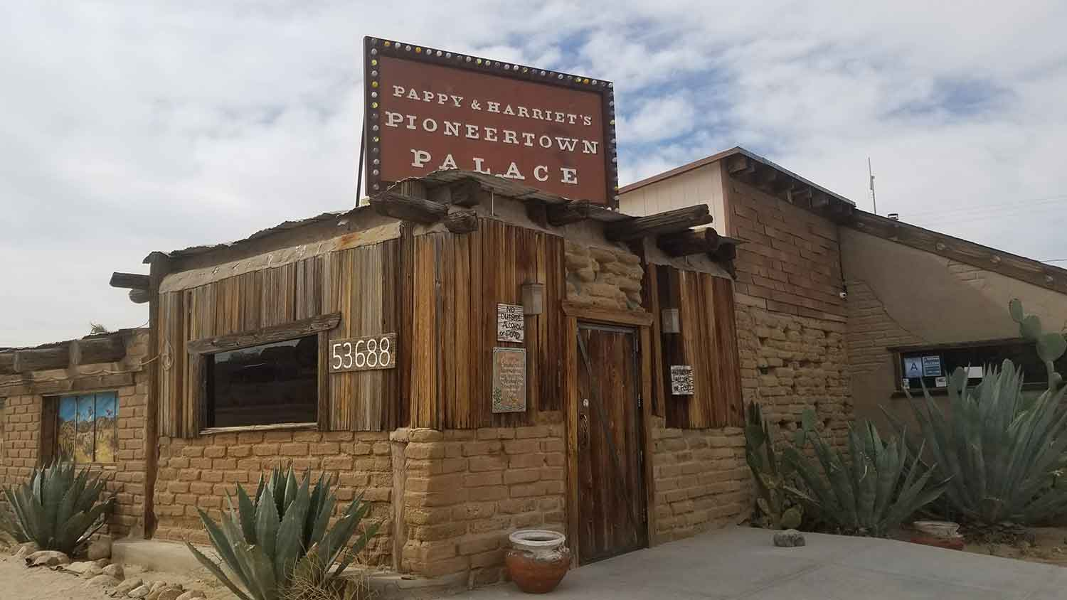 Legendary music venue, Pappy & Harriet's in located in Pioneertown, is a short drive from Joshua Tree.