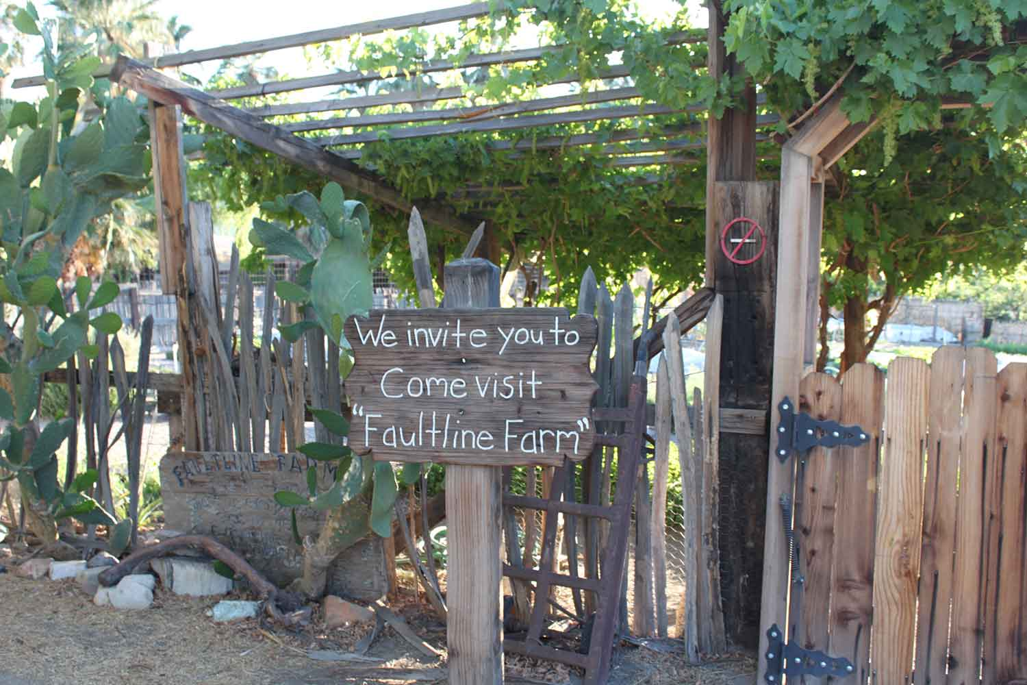 The Restaurant at the 29 Palms inn features ingredients grown at the Faultline Farm.