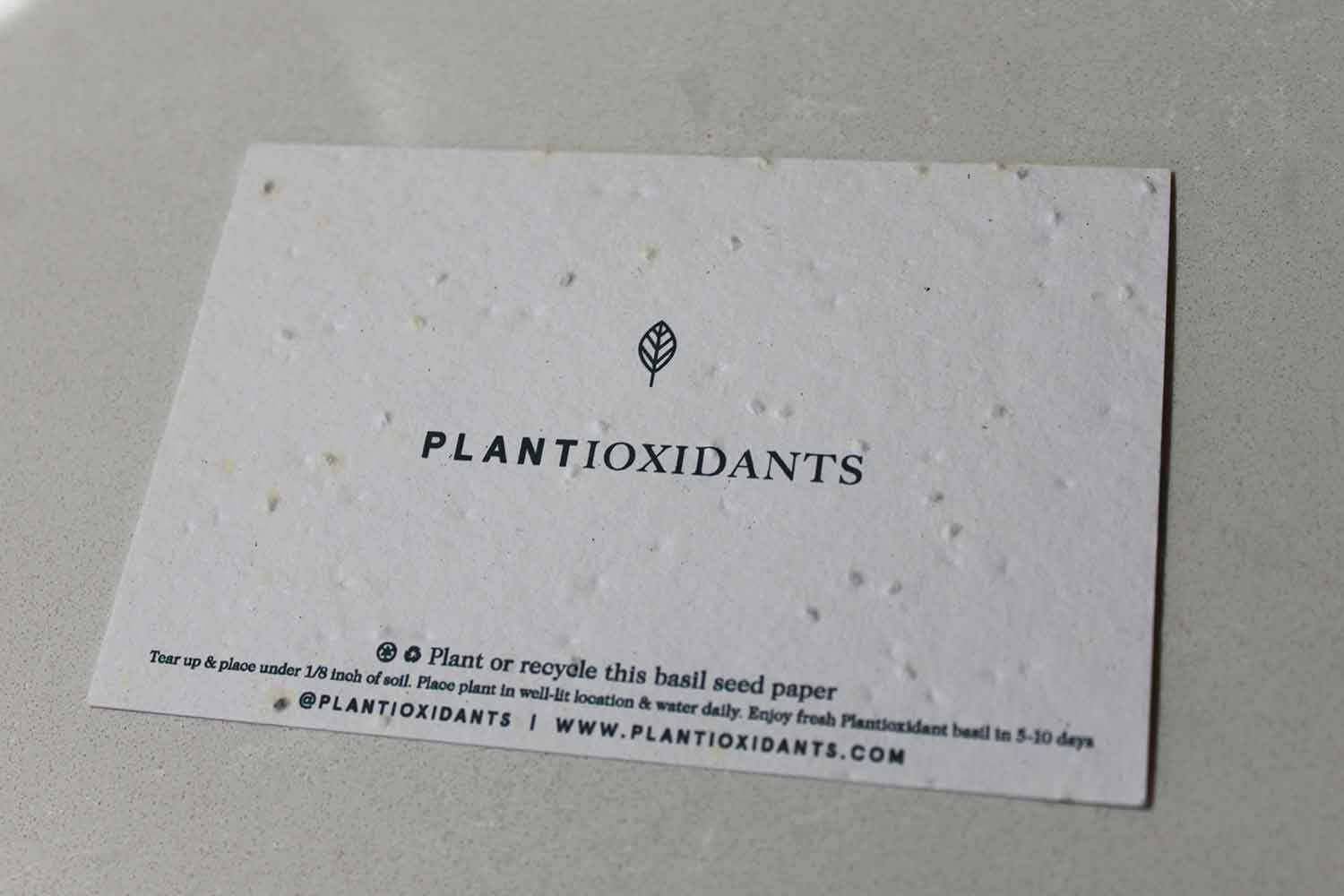 Plantable seed paper.