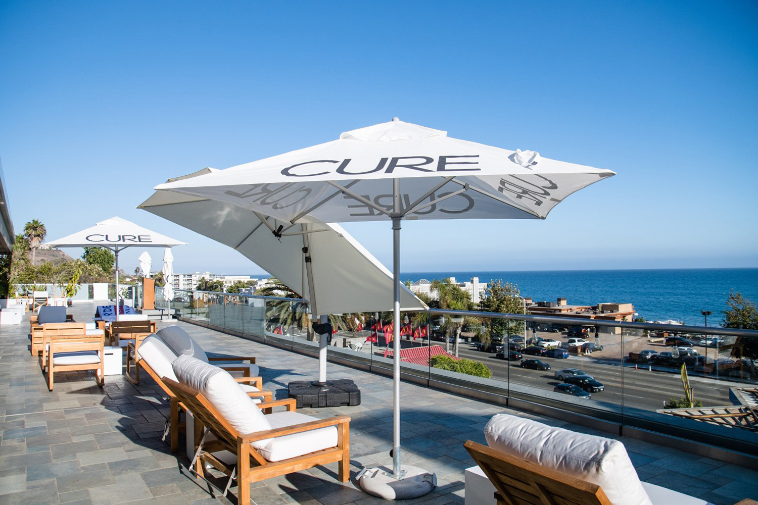 CURE is located directly across the street from Nobu Restaurant along Pacific Coast Highway in Malibu, California.