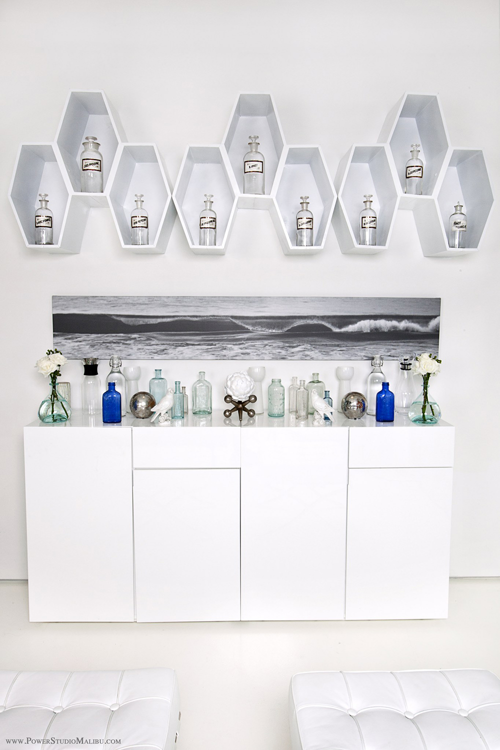 The spa's beach-inspired decor makes it the ultimate seaside sanctuary.