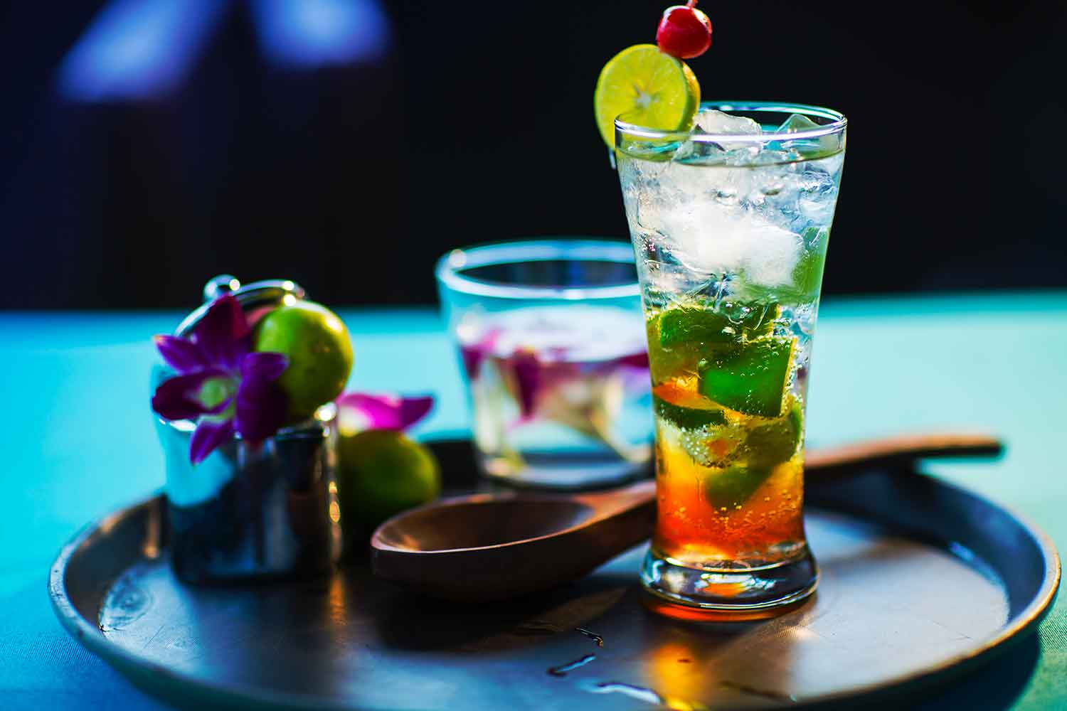 Enjoy cocktails at the Night Market by the Four Seasons Resort Maui's master mixologist, Ben Yabrow.