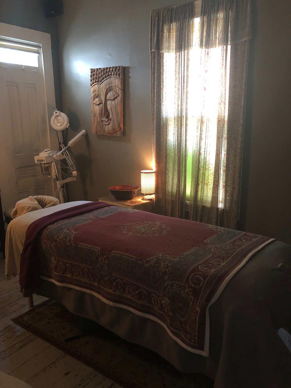 The spa has several treatment rooms and also includes a couples room.