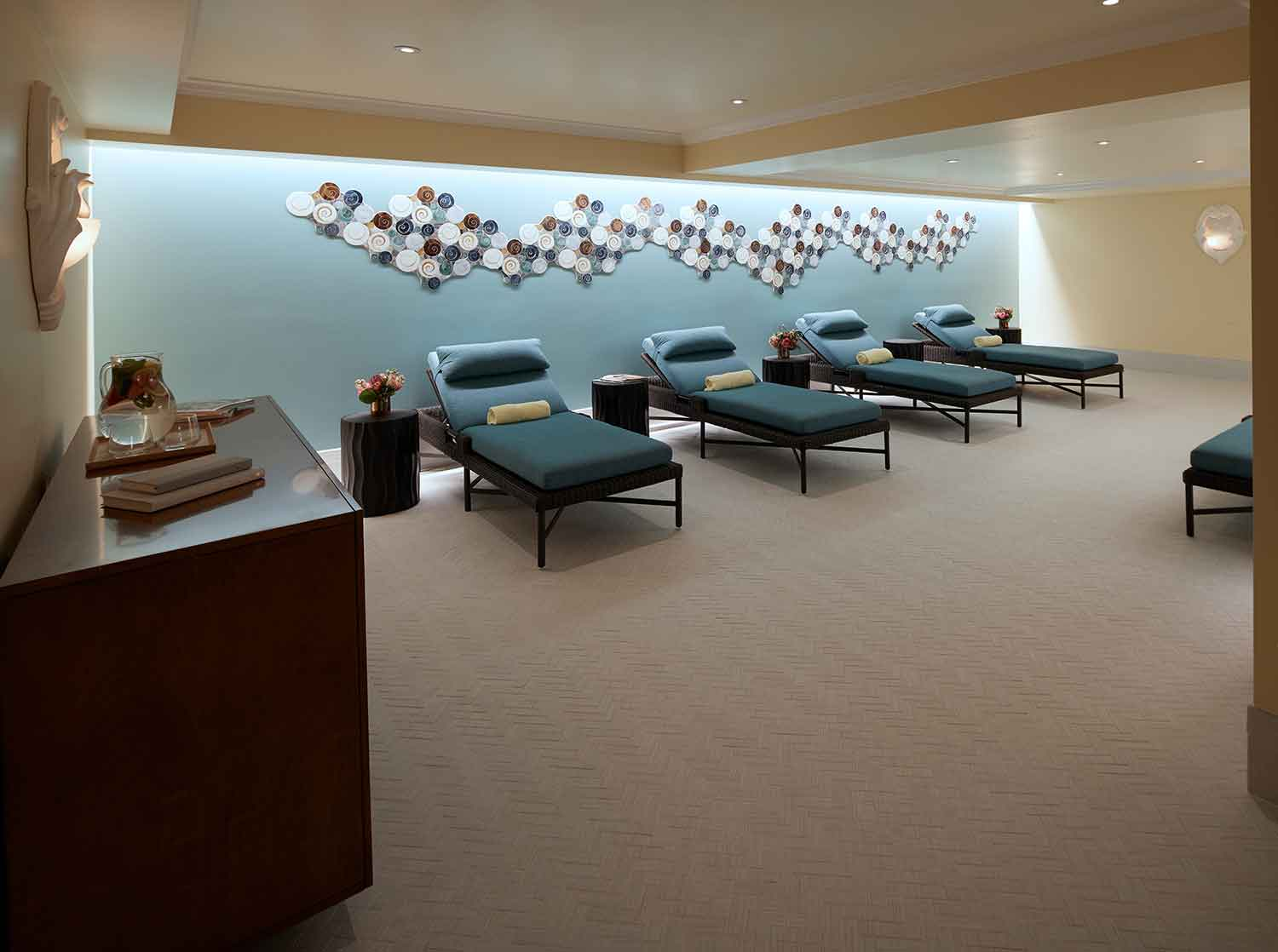 Relaxation Lounge at Kohler Waters Spa.