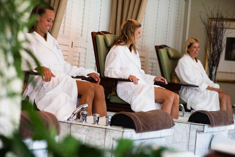 Guests enjoy treatments at Kohler Waters Spa.
