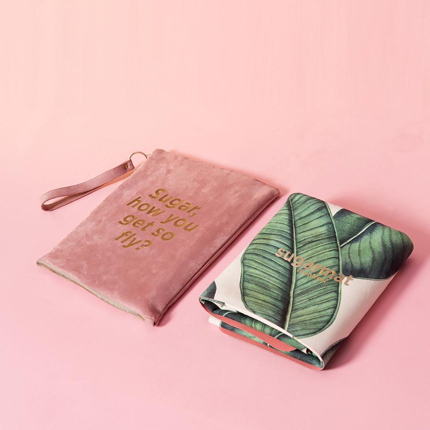 The Travel Mat comes in five designs and can also be personalized with a custom monogram.