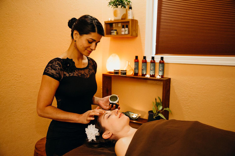 Blue Marigold Massage pairs handcrafted hemp-derived CBD oils with custom massages. [Image courtesy of Blue Marigold Massage]