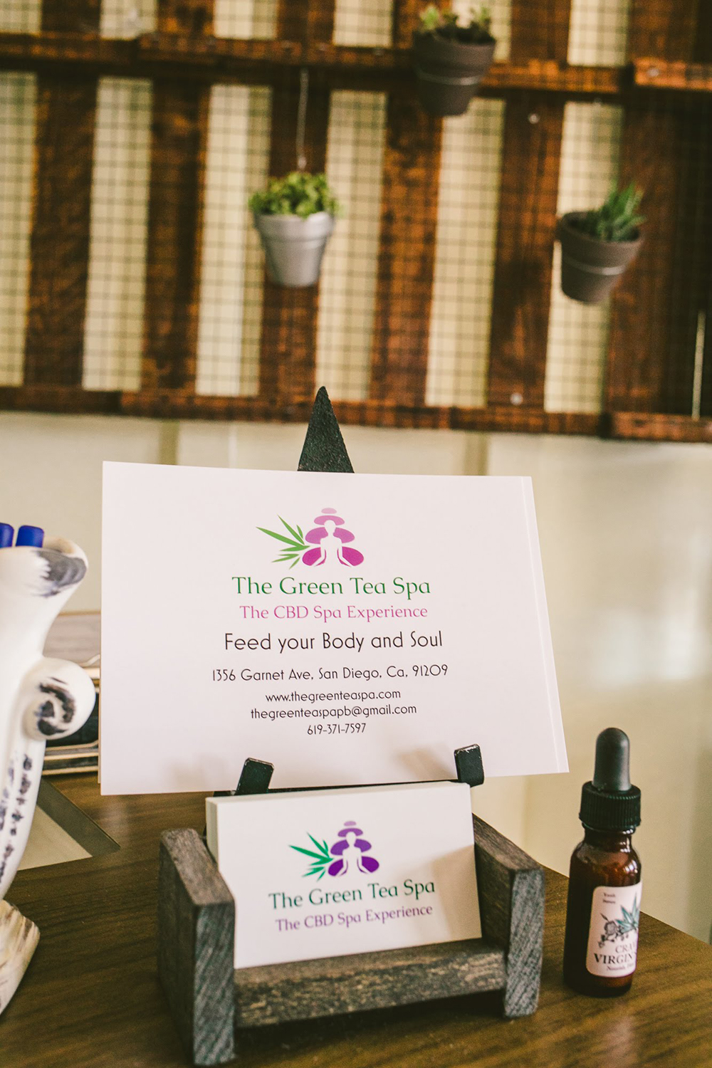 The Green Tea Spa offers a full menu of CBD services that include massages, foot soaks and facials. [Image courtesy of The Green Tea Spa]