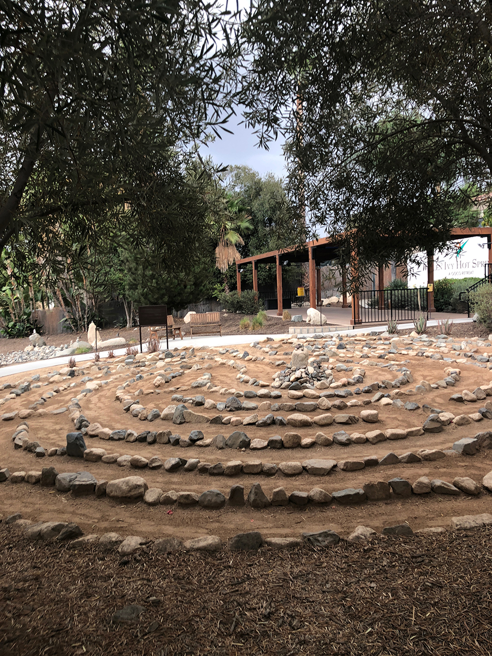 Featuring only one path to the center, Glen Ivy's Labyrinth offers the chance to clear your mind and practice reflection while walking through.