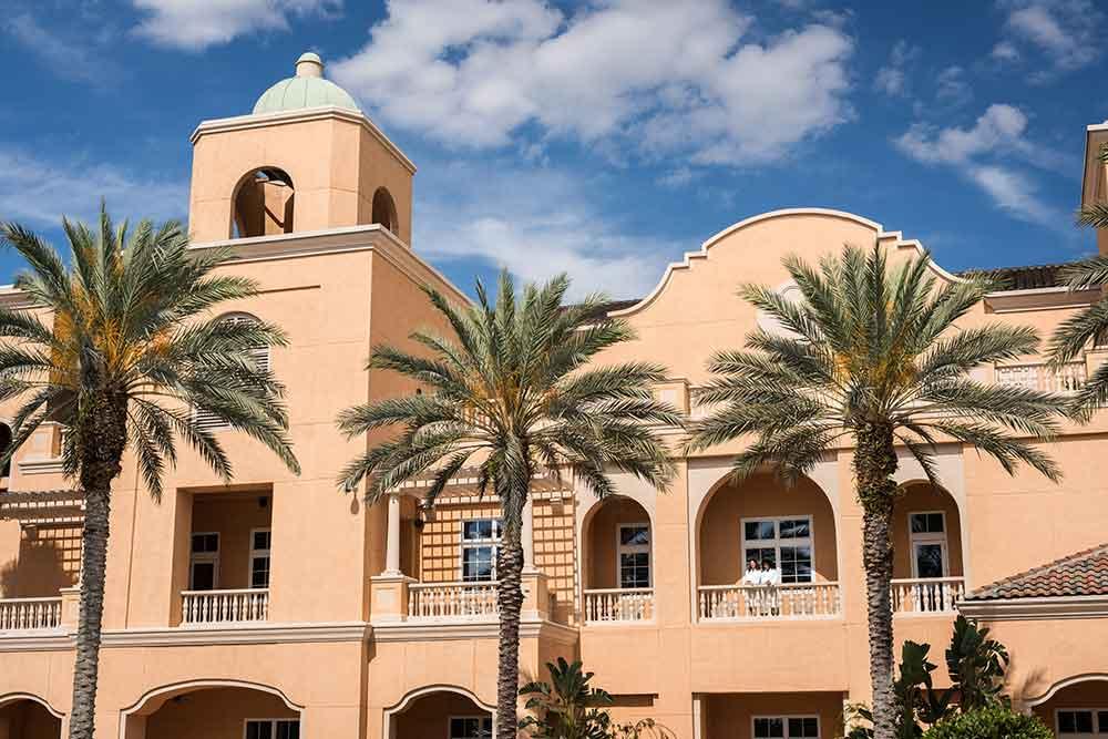 The Ritz Carlton Orlando Spa Balcony.