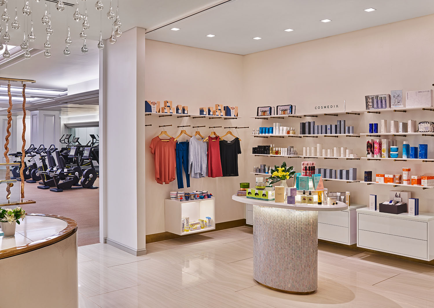 The spa's full-service retail area.