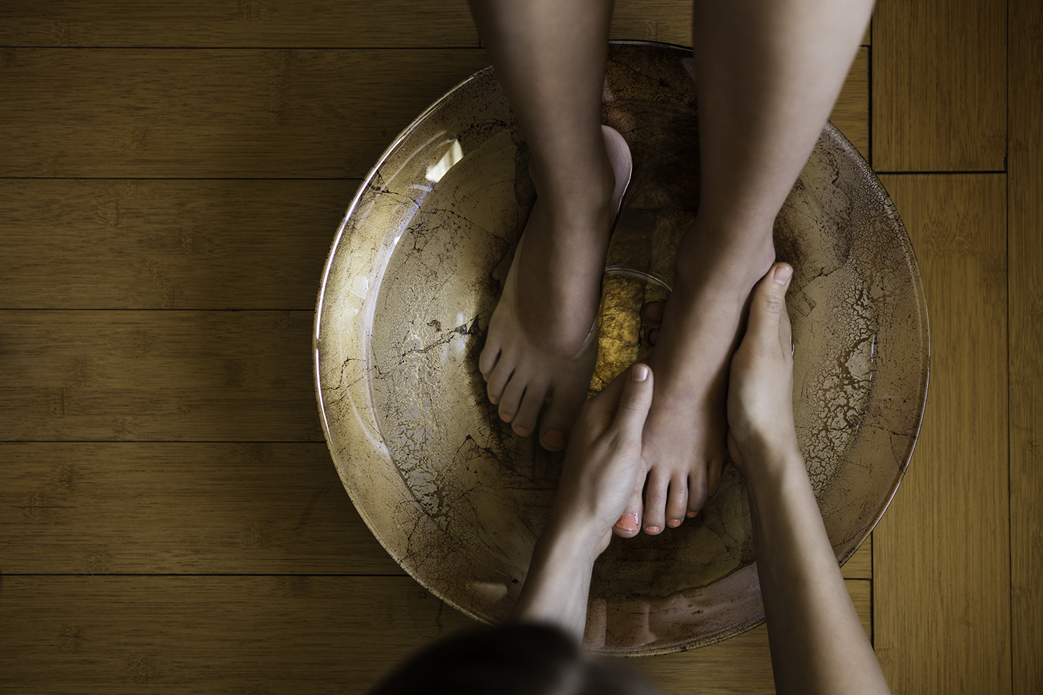 The spa offers a variety of relaxing treatments, including foot baths.