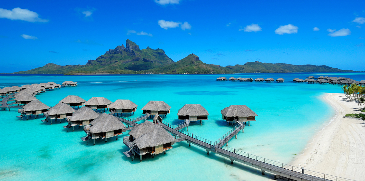 Four Seasons Resort Bora Bora is home to a series of stunning overwater bungalows.