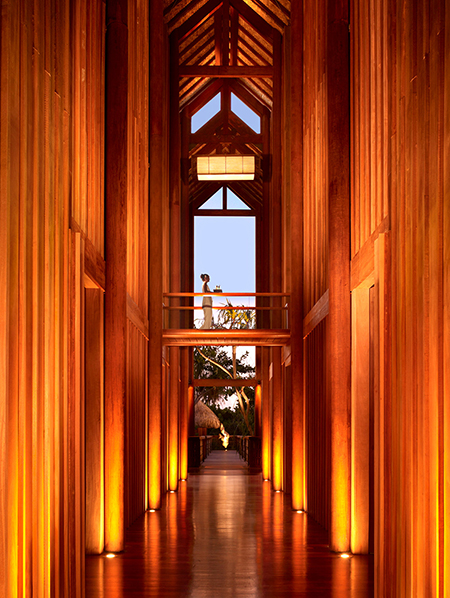 The tranquil spa is inspired by the Kahaia tree.