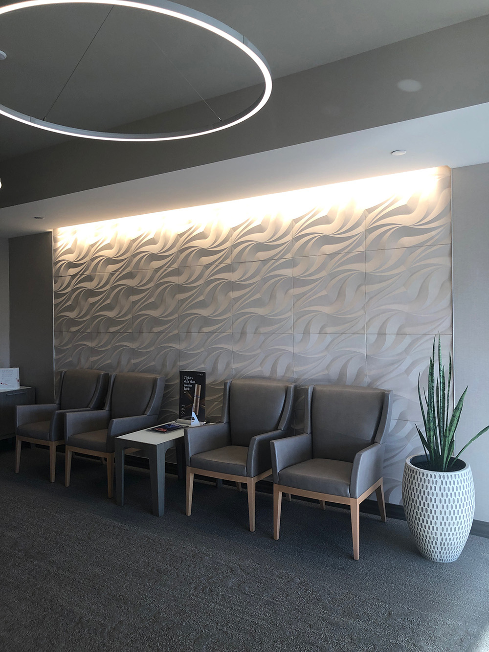 Another view of the stylish waiting area.