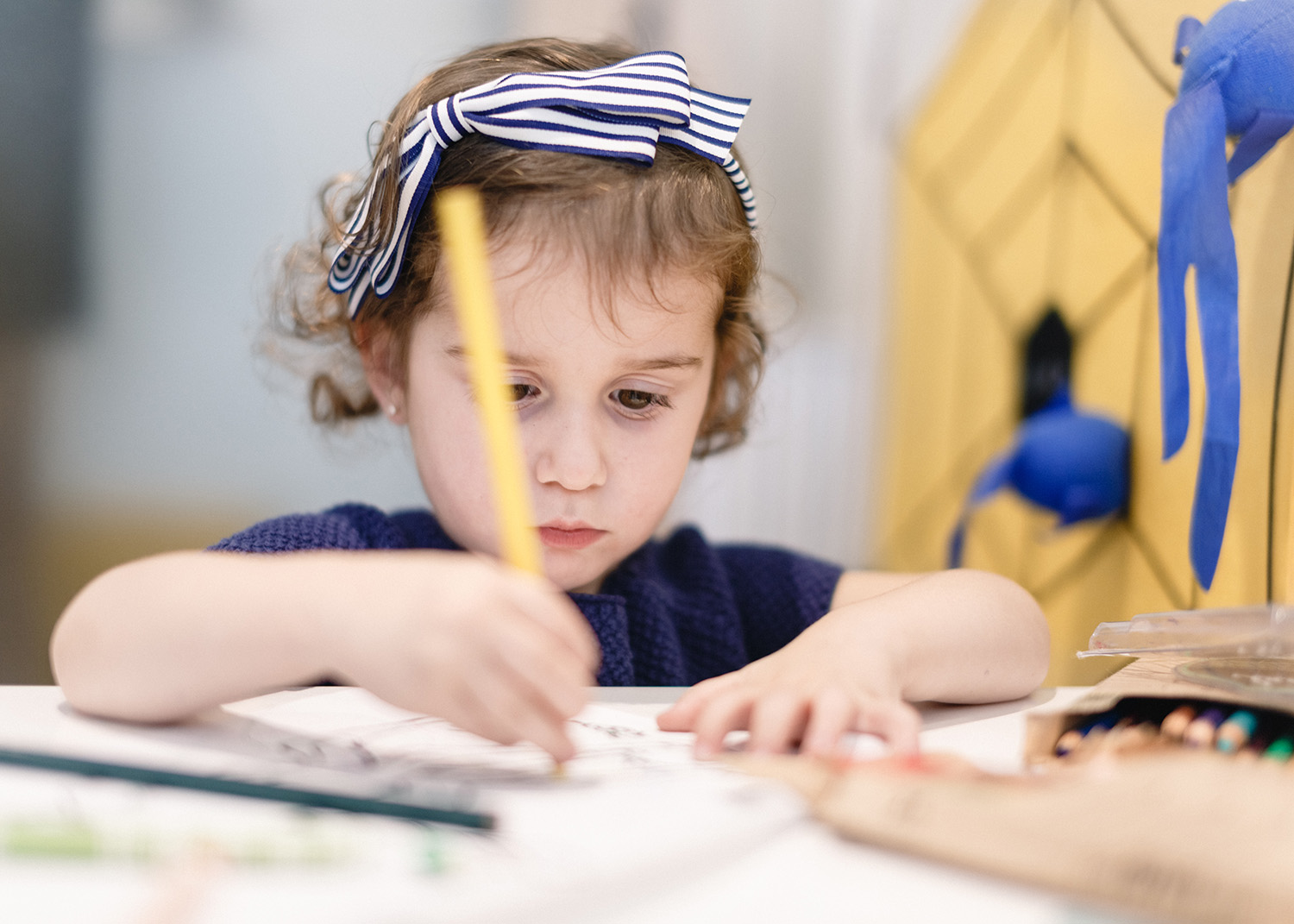 While their parents are at the spa, children are entertained with different activities while under the care of nannies.