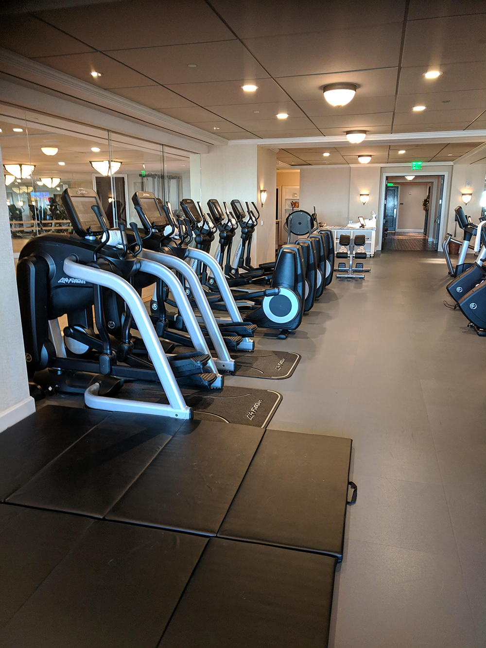 Spa Montage's fitness center has everything you could ever want while working out.