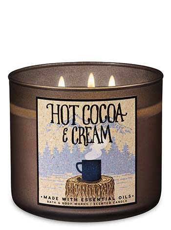 Bath & Body Works Hot Cocoa & Cream 3-Wick Candle ($10)