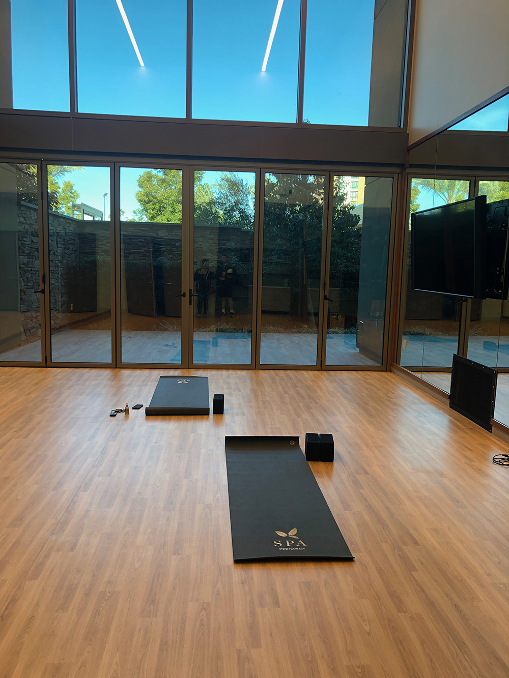 The Spa's fitness facility includes a state-of-the-art gym, studio and outdoor patio.