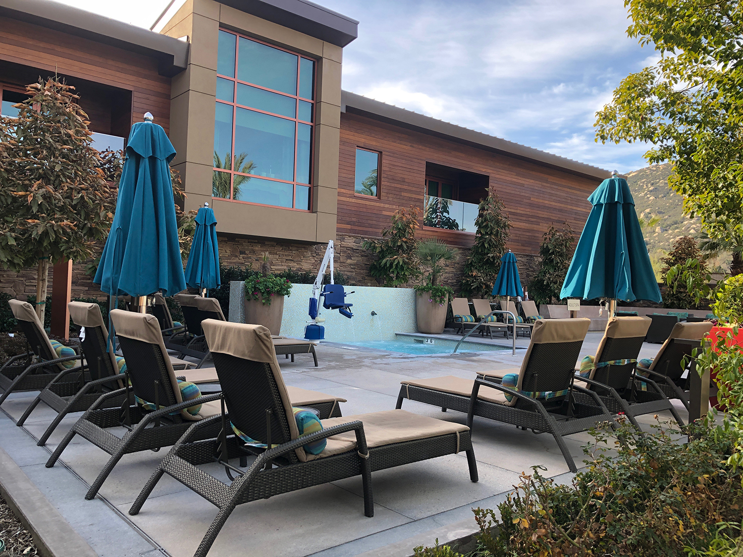 The Cove has three swimming pools, making it the perfect place to relax during a hot day.