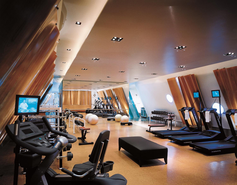 The gym at Four Seasons Hotel Gresham Palace Budapest.