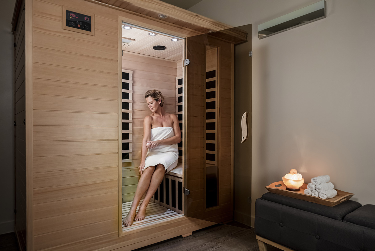 The spa also offers has infrared sauna.