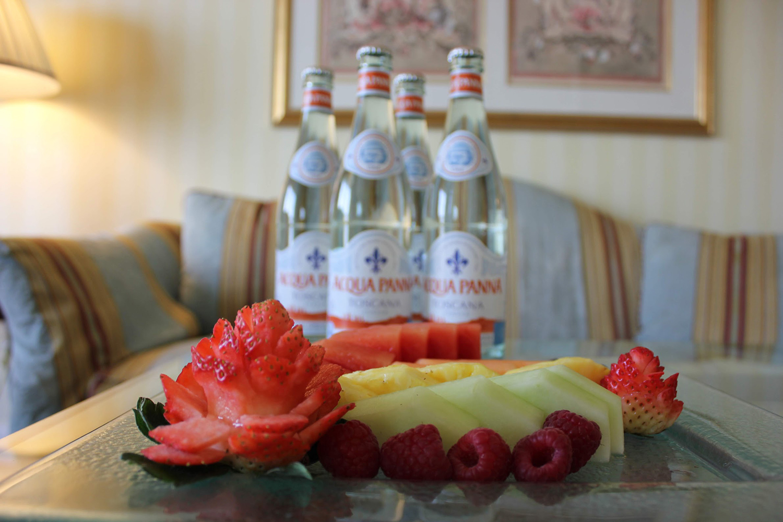 The Grand America's VIP fruit platter.