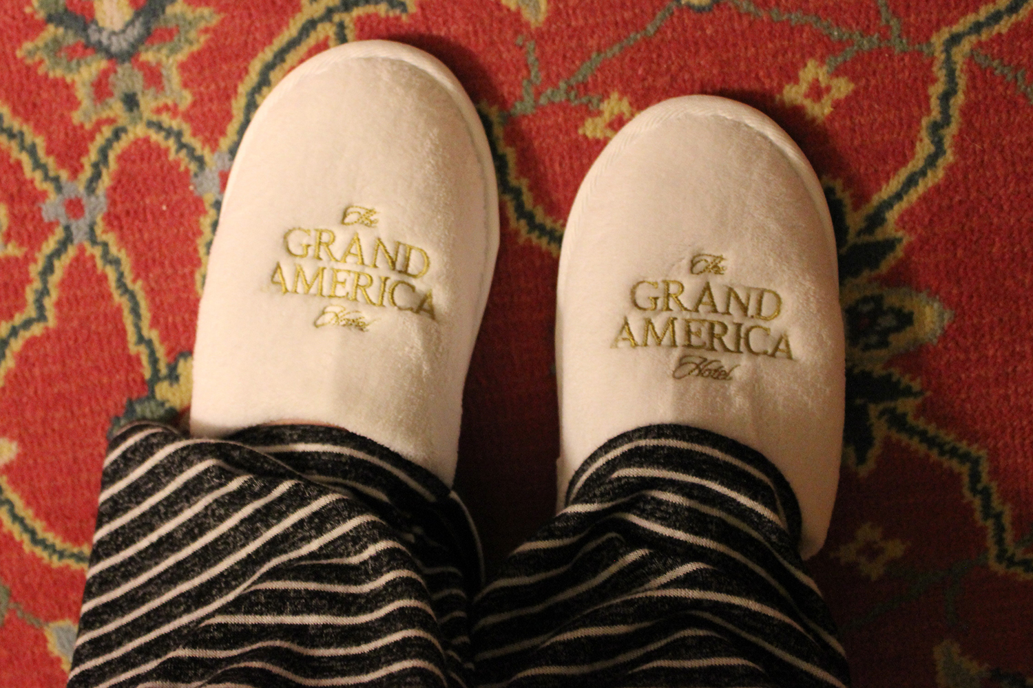 Lavish slippers bring added comfort to your stay.