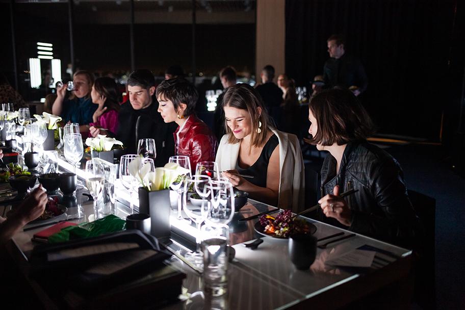 Shiseido guests dine at Japan House LA.
