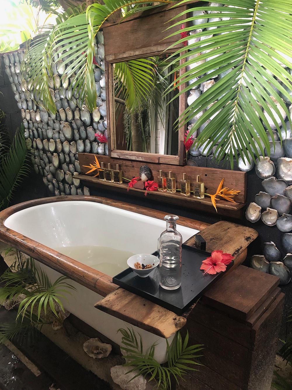 The Zen Garden area features a stunning open-air bath tub.