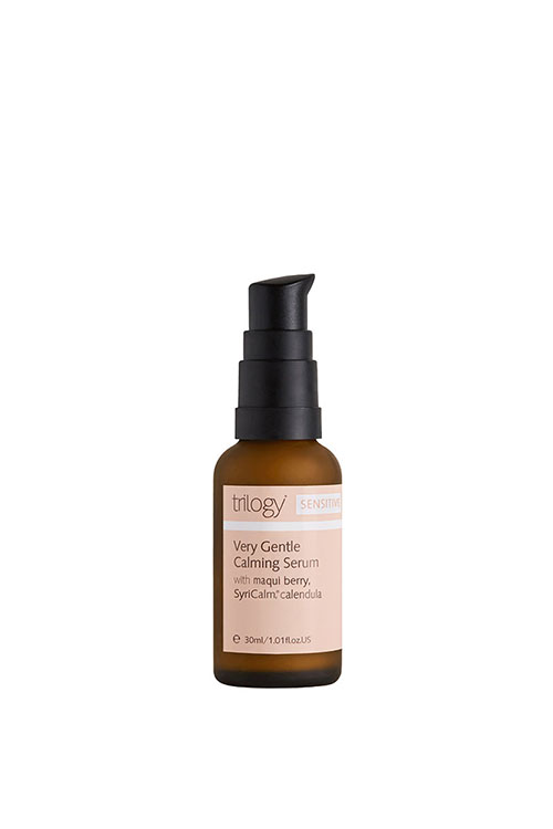 Trilogy offers incredibly effective natural alternatives to synthetic skin care with products such as the Very Gentle Calming Serum.