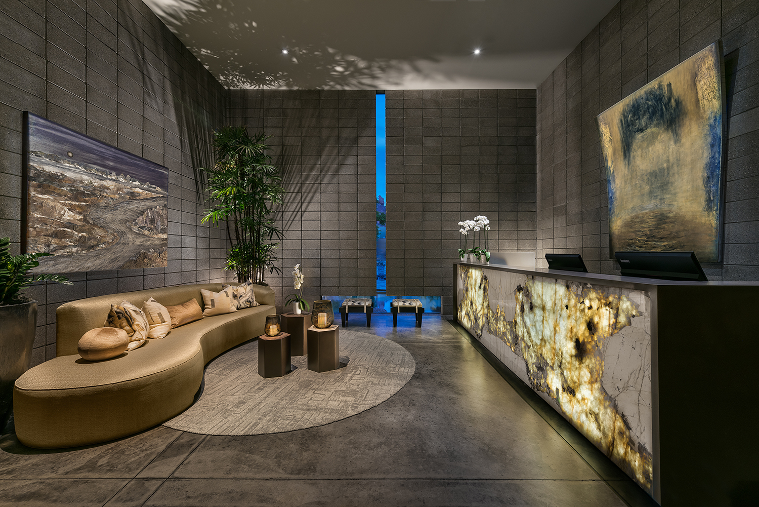 The spa lobby and reception.