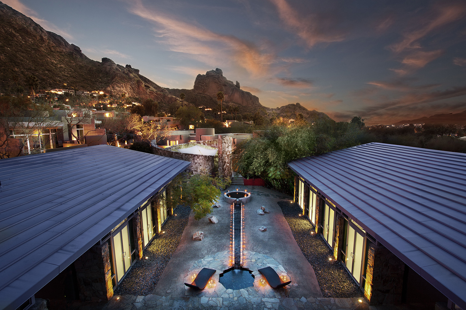 The resort and spa are beautifully embedded within the terrain of Camelback Mountains.
