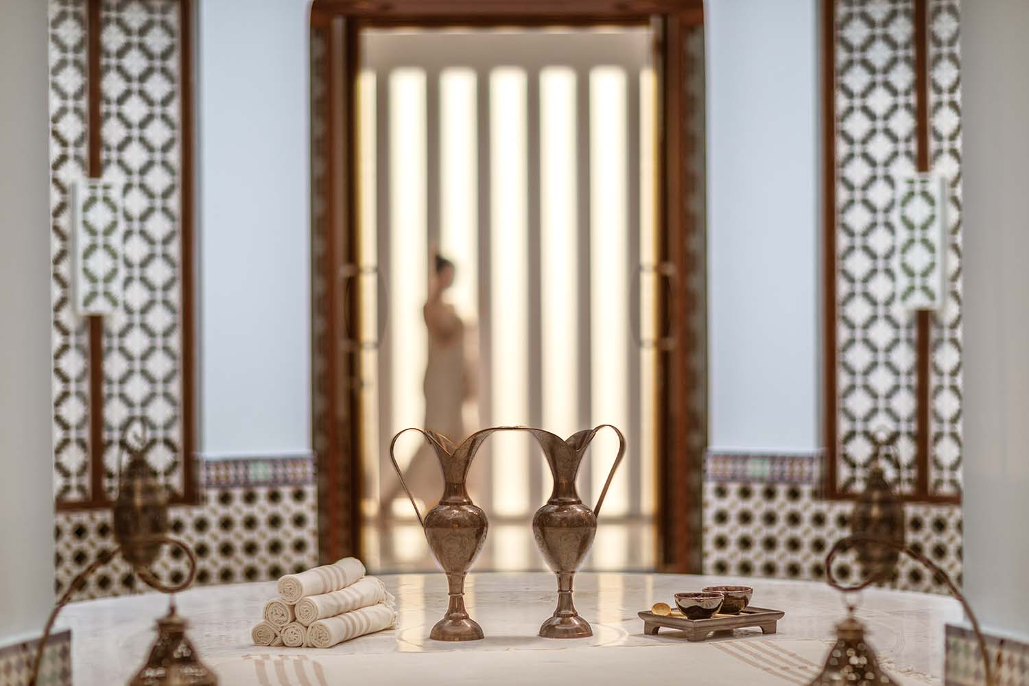 The spa has the only luxury hammam in the area.