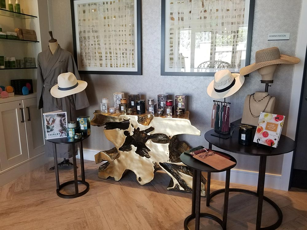 Retail therapy at Drift Spa.
