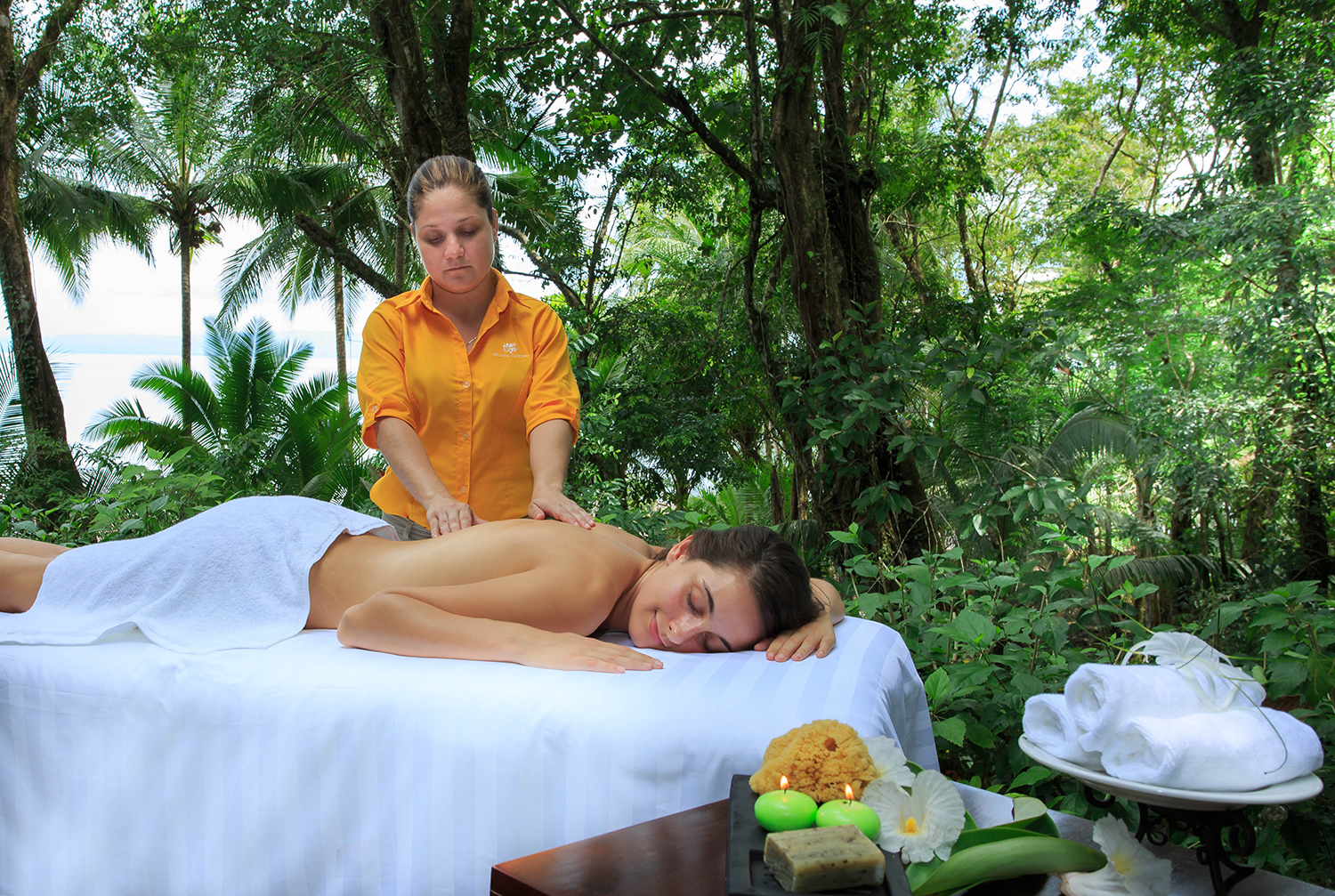 The Lotus Wellness is immersed in nature and offers a signature menu of wellness treatments.