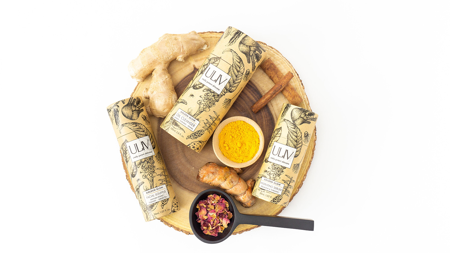ULIV Skincare is formulated with organic turmeric and ginger.
