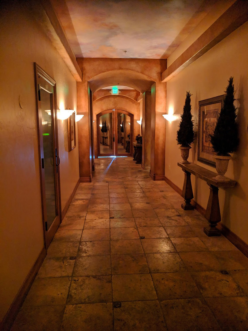 Sego Lily's hallways are open and grand.