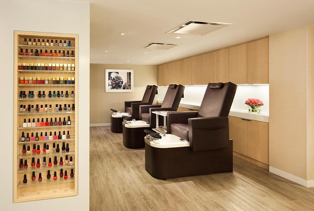 Juilen Farel manicure/pedicure station.