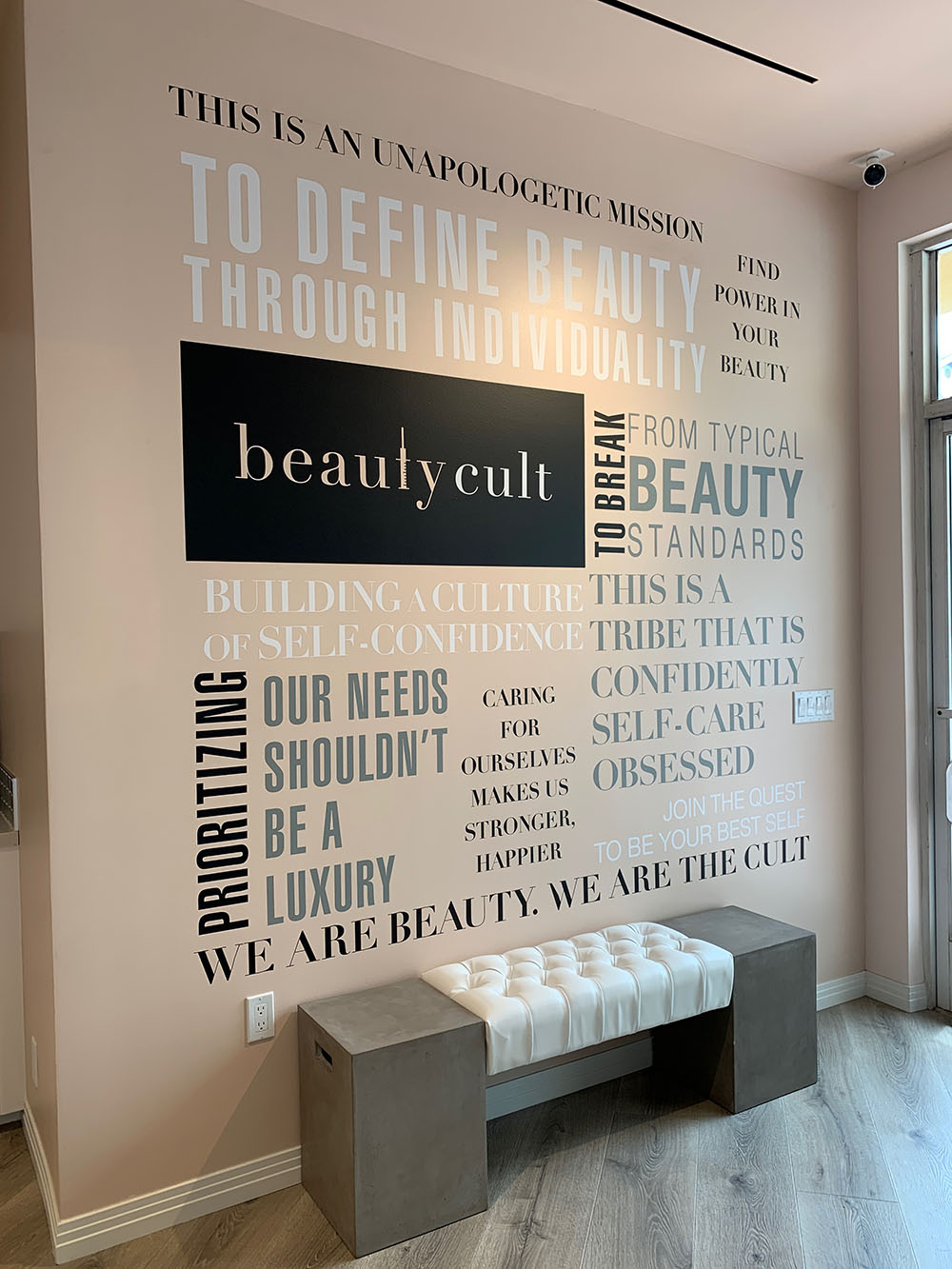 The decor and attention to detail throughout Beauty Cult is simply stunning.