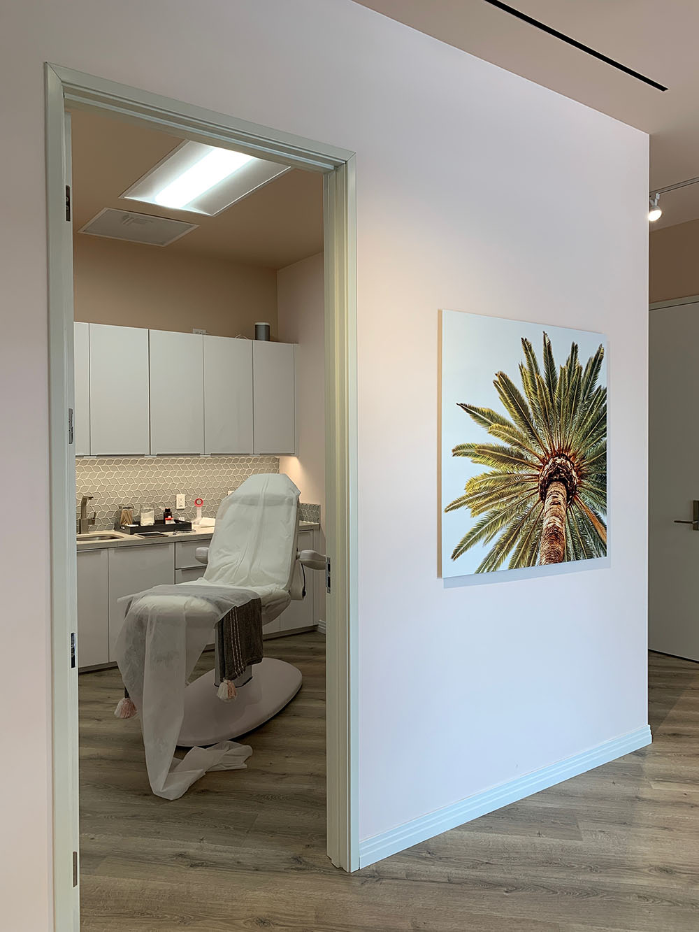 One of the treatment rooms for Botox, fillers, and other services.