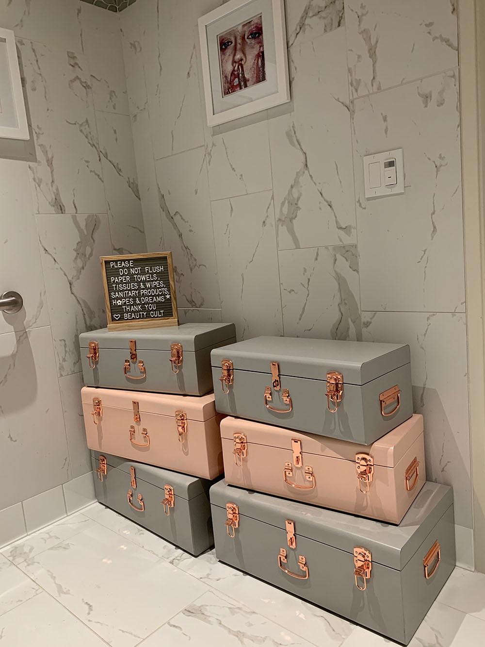 Beauty Cult's super cute bathroom.